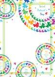 ST Patrick&#x27 πλαίσιο ύφους ουράνιων τόξων τριφυλλιού κύκλων mandala ημέρας του s ελεύθερη απεικόνιση δικαιώματος