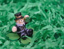 St. Patrick. Happy St. Patrick's day green background photo Royalty Free Stock Images