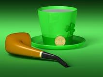 St Patrick abstrait Photos libres de droits