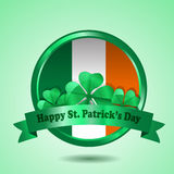 St. Patrick Badge Vector Royalty Free Stock Photo