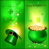 St. Patrick Banners Stock Photos