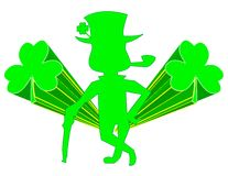 St. Patrick with Beveled Shamrocks! Royalty Free Stock Images