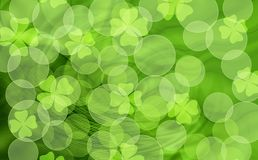 St. Patrick bokeh background Royalty Free Stock Images