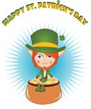 St. Patrick card Royalty Free Stock Photos