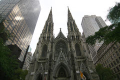 St. Patrick Cathedral NYC Stock Foto's