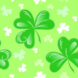 St Patrick clover seamless vector Stock Photo