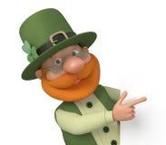 St Patrick com quadro de avisos Fotos de Stock