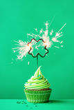 St Patrick Dag Cupcake Stock Foto