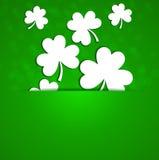 St Patrick Dag Een klaver op een groene achtergrond met degradatie Royalty-vrije Stock Afbeelding
