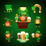 St.Patrick Dag met hoef wordt geplaatst die Stock Foto's
