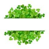 St Patrick dag vectorachtergrond met klaver Stock Fotografie