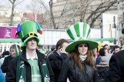 De Dag van heilige Patrick in Boekarest stock foto's
