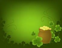 St. Patrick dagachtergrond Stock Fotografie