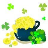 St. Patrick dagachtergrond Stock Afbeelding