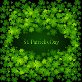 St. Patrick dagachtergrond in groene kleuren Stock Foto's