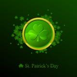 St. Patrick dagachtergrond in groene kleuren Royalty-vrije Stock Foto