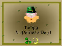 St. Patrick Dagkaart Stock Foto