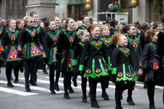 St. Patrick Dagparade New York 2013 Stock Foto's