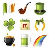 St. Patrick dagpictogrammen Royalty-vrije Stock Afbeelding