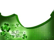 St.Patrick day. Greeting with shamrocks Royalty Free Stock Image