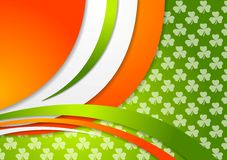 St. Patrick Day background with Irish colors Royalty Free Stock Photos