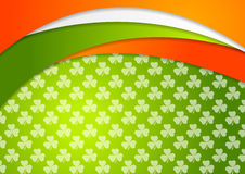 St. Patrick Day background with Irish flag colors Stock Photos