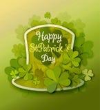 St Patrick Day background stock illustration