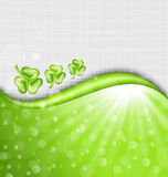 St. Patrick Day background with trefoil Royalty Free Stock Images