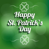 St Patrick day banner Royalty Free Stock Photo