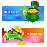 St. Patrick Day Banners Royalty Free Stock Photos