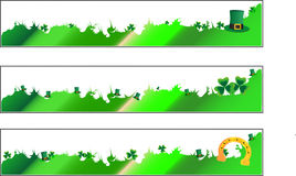 St. Patrick Day banners. In  three lines Royalty Free Stock Image