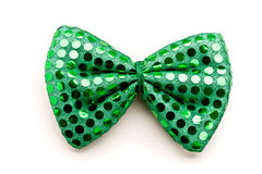 St. Patrick Day bow tie. Green bow tie for St. Patrick Day Royalty Free Stock Images