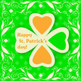 St. Patrick day card Stock Images