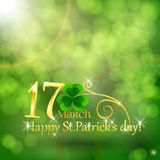 St. Patrick  day card Stock Photography