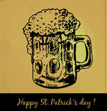 St. Patrick day card Royalty Free Stock Image
