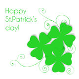 St. Patrick day card Royalty Free Stock Photos
