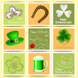 St. Patrick day cards Royalty Free Stock Photos