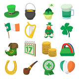 St Patrick Day cartoon icons Royalty Free Stock Photography
