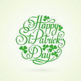St.Patrick Day circle lettering on white background vector illus Stock Photo