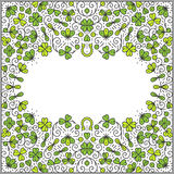 St Patrick Day frame Royalty Free Stock Images