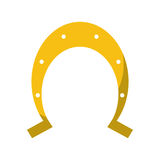 St patrick day gold horseshoe lucky symbol Royalty Free Stock Photography