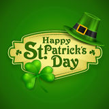 St. Patrick Day green poster Stock Photos