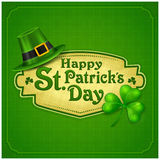 St. Patrick Day green poster Royalty Free Stock Photos