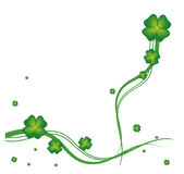 St.Patrick day greeting card. An illustration for a card with clover Stock Images
