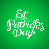 St. Patrick Day Greeting Card. Vintage Lettering. Stock Photo