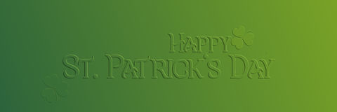 St. Patrick Day holiday card Stock Images