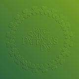 St. Patrick Day holiday card Royalty Free Stock Images