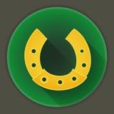 St Patrick Day horseshoe icon Royalty Free Stock Photo