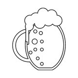 St patrick day jar beer foam cold outline Stock Photos