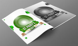 St patrick day magazine mockup Royalty Free Stock Images